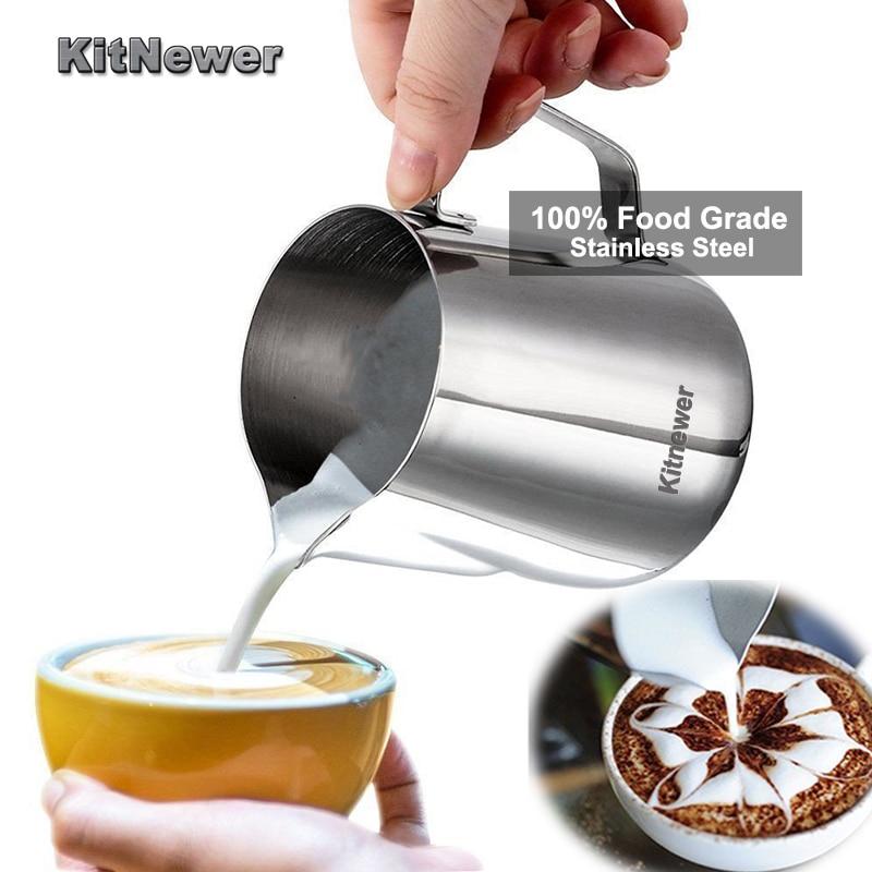 KITNEWER Élelmiszer minőségű rozsdamentes acél tej habzó - Konyha, étkező és bár