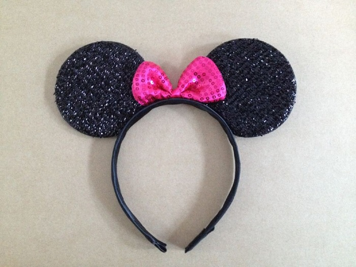 kids Carnival supplies Minnie Mouse Ears Headband Polka Dot Bow Birthday gift Party Decorations Kids Party Favors