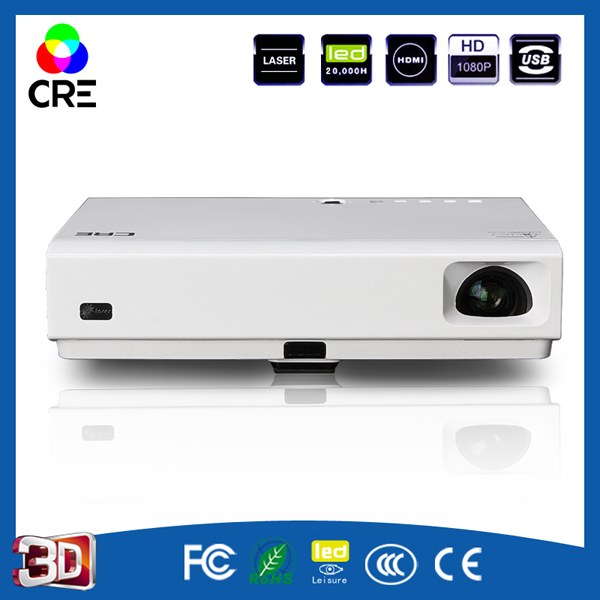 Cheapest cre X3001 3000 ANSI lumen font b projector b font full HD 1080p 3LED DLP