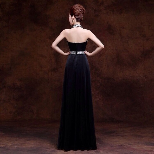 Crystal Beading Sweatheart Floor-length vestido de festa Sexy Formal Evening Prom Party Gowns Elegant Long Evening Dresses 2016