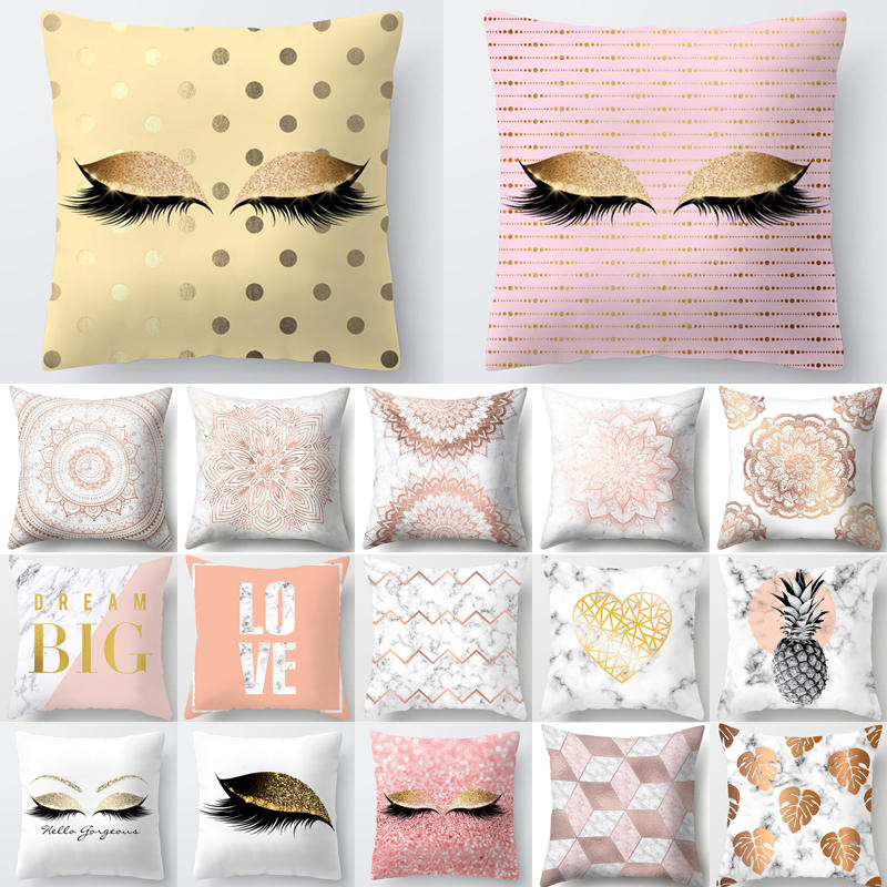 1Pcs Eye Geometric Pattern Polyester Throw Pillow Cushion Cover Car Home Decor Decoration Sofa Bed Decorative Pillowcase 40521