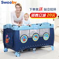 2016 Special Offer Cribs For Twins Babies Baby Beds Sweeby Baby Bed Folding Child Game Concentretor Fashion Multifunctional Bb