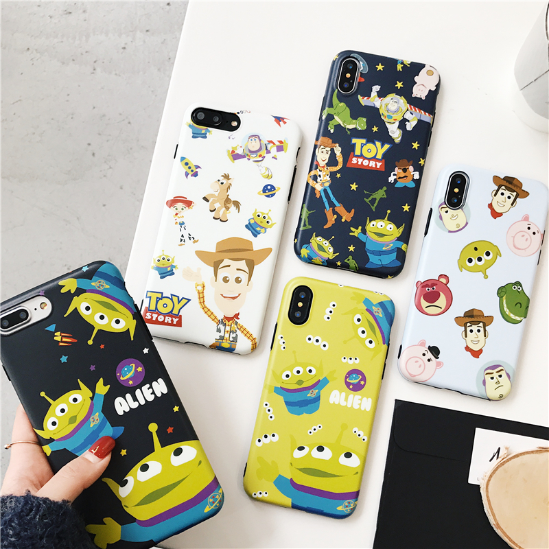 Cute Cartoon <font><b>Toy</b></font> <font><b>Story</b></font> Alien Buzz Lightyear Case for <font><b>iPhone</b></font> 11 pro 8 7 6 6s Plus X XS Max <font><b>Xr</b></font> Matte imd soft silicone cover <font><b>coque</b></font> image