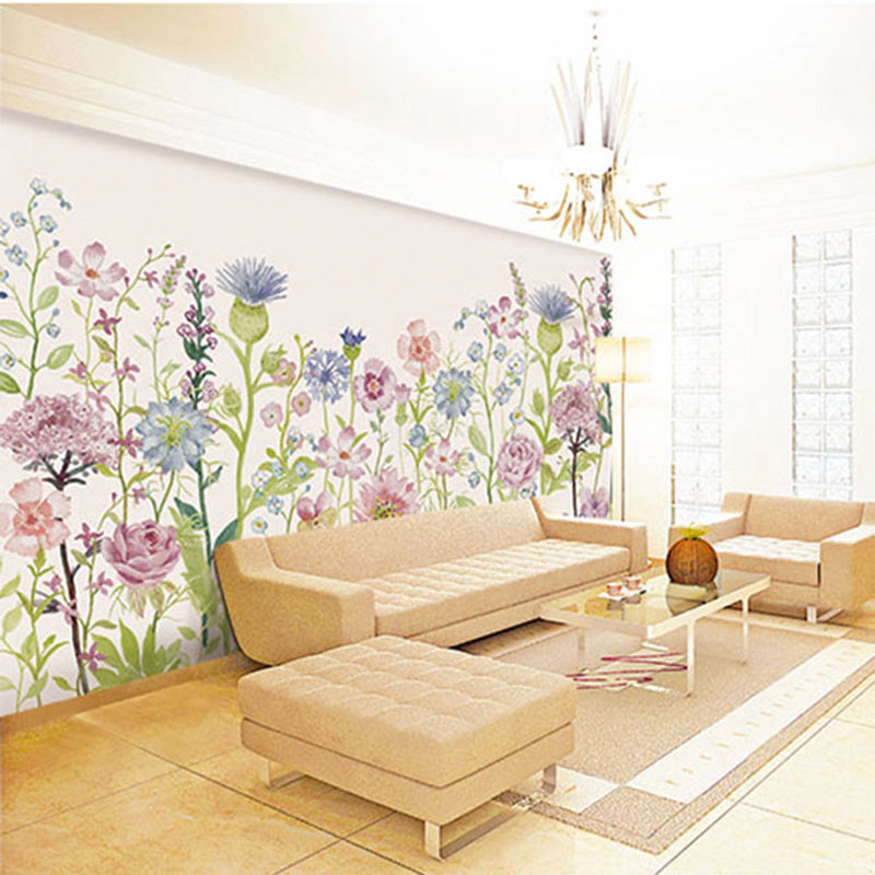 Custom DIY Fabric & Textile Wallcoverings For Walls Jacquard Linen For Living Room Home Decora Wall Murals Scenery Flower Print seaside scenery skidproof crystal velvet fabric rug