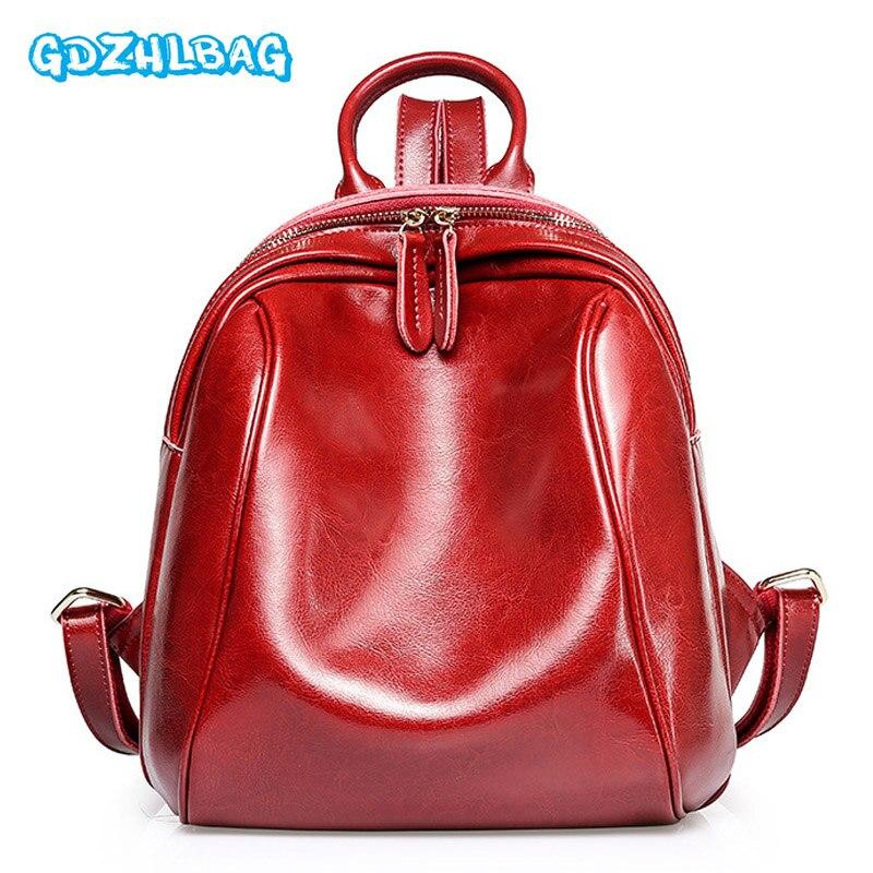 2018 New Arrival Genuine Leather Backpacks Women Fashion Rucksacks School Backpack For Girls Mochila Brand Designer Bags B248
