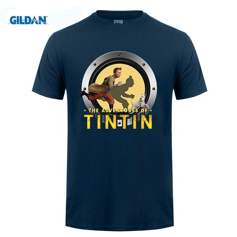 Возьмите снежные футболка ребята Футболка с принтом Тинтин футболка Для мужчин летние изображение teenboys Футболки для девочек Приключения Т...