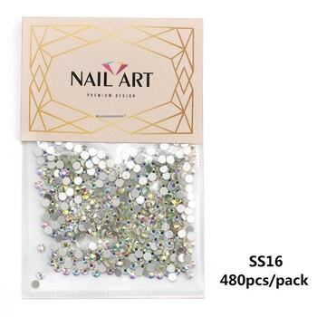 Διακόσμηση νυχιών super glitter crystal ab
