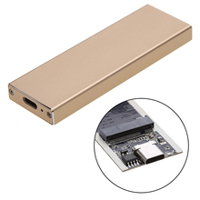 External  B Key M.2 NGFF SSD to USB 3.1 Type-C Super Speed Converter Adapter Enclosure Case with USB 3.0 Data Cable