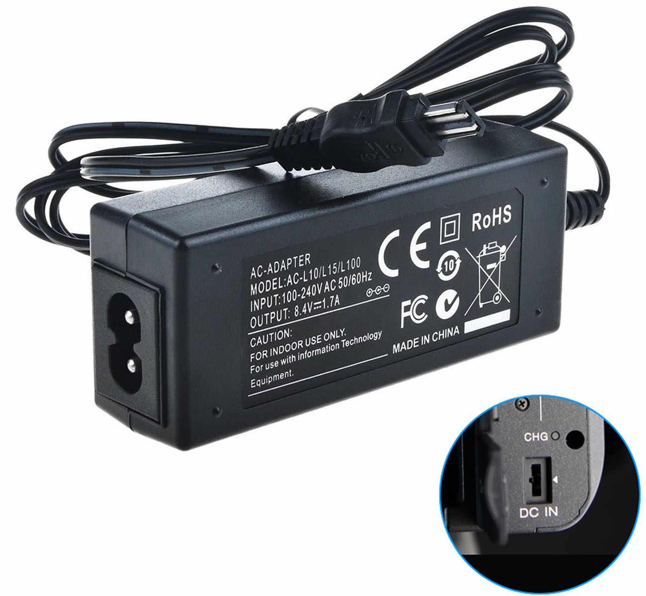 Cargador adaptador de alimentación de CA y cable ajuste Videocámara Sony Handycam DCR-TRV140 TRV250