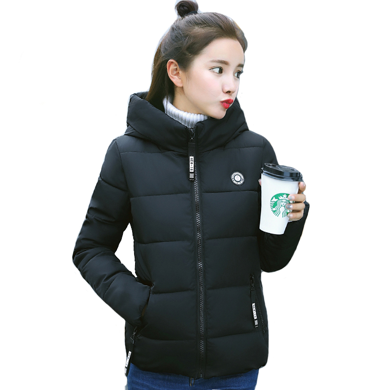 Stand Collar Winter   Jacket   Women 2018 Hooded Casaco Feminino Outwear Cotton Padded Autumn   Basic     Jackets   Short Coat Coats LJ0838