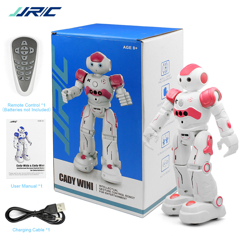 JJRC R2 RC Robot de carga USB bailando Sensor de gesto cantando inteligente programa CADY WIDA juguete de Control azul rosa para niños f22252