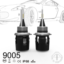 1 Set 9005 HB3 Bullet B6 LED Headlight Slim 42W 5200LM CSP Y11 Chips All in