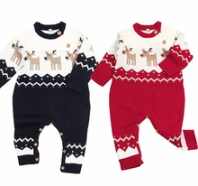Barnas vinteroveraller for nyfødte babyboys Jenter Juledragter Dyrestil Spedbarn Kids Rompers Jumpsuits With Deer