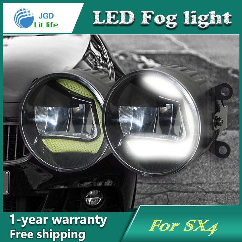 Super White LED Daytime Running Lights case For Suzuki SX4 Drl Light Bar Parking Car Fog Lights 12V DC Head Lamp