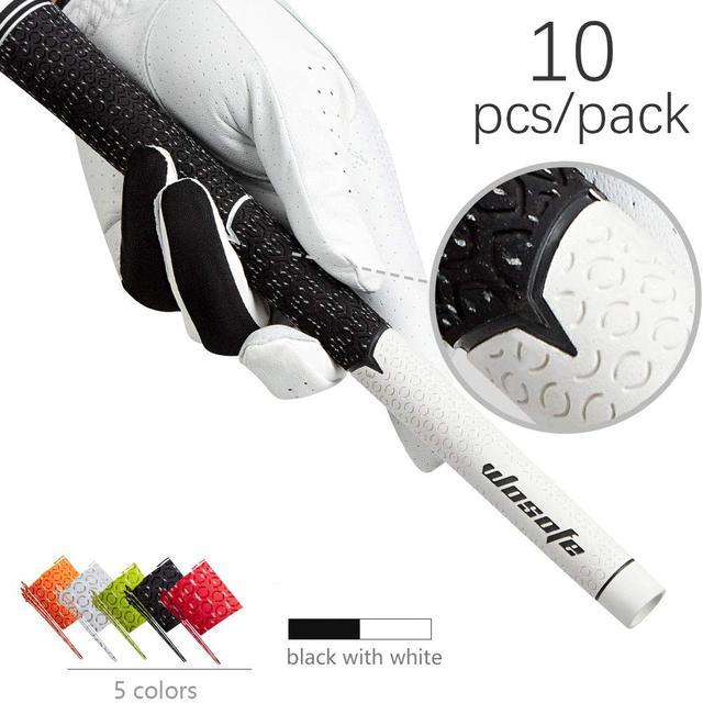 Утюги для гольфа ручка стандартная Нескользящая ручки для клюшек для гольфа белый/черный 10 шт/партия бесплатная доставка