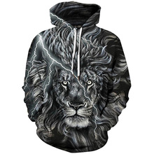 2019 Unisex Women Men Galaxy Animal 3D Digital Print Pullover Hoodie Hooded Fleece Sweatshirt LYM039-048