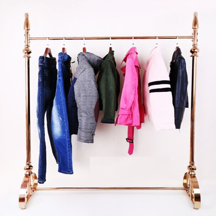gold clothing rack with shelf rose gold clothing rack