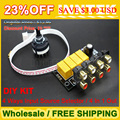 4 Ways Input Source Selector For Audio Preamp Power Amplifier DIY Kit / 4 In 1 Out , Free shipping