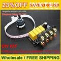 4 Ways entrada de fuente para Audio preamplificador amplificador de energía Kit DIY / 4 en 1 ahueca hacia fuera, envío gratis