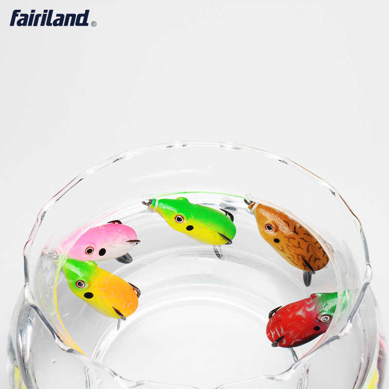 1 Uds. 4,4 oz Señuelos de Pesca de lubina Rana señuelo realista topwater silicona cebo ganchos de acero al carbono alto leurre souple ranas lubina cebo