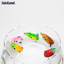 5pcs 4.4oz Bass fishing lures frog lure lifelike frog topwater baits with High carbon steel hooks hollow body frogs bass baits