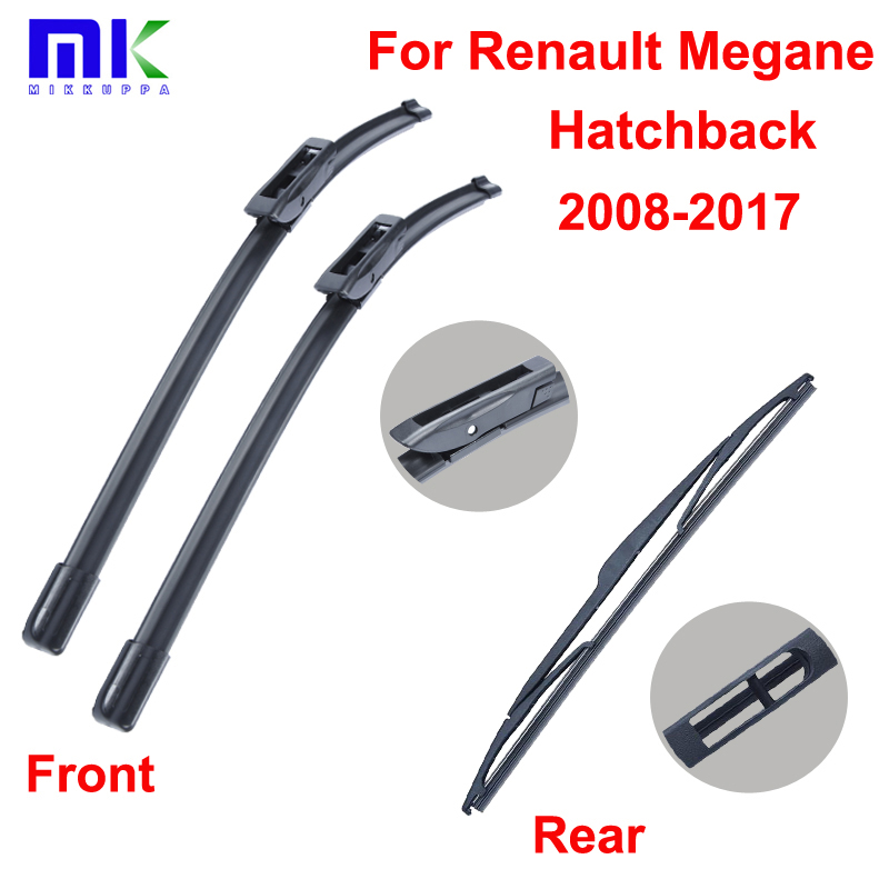 Listy stěračů pro Renault Megane Hatchback 2008 a dále Combo Přední a zadní stěrače čelního skla Auto příslušenství