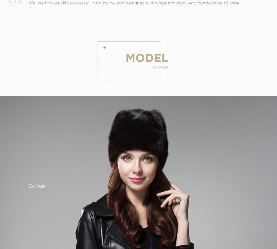 mink fur winter hats for women PCM028 (9)
