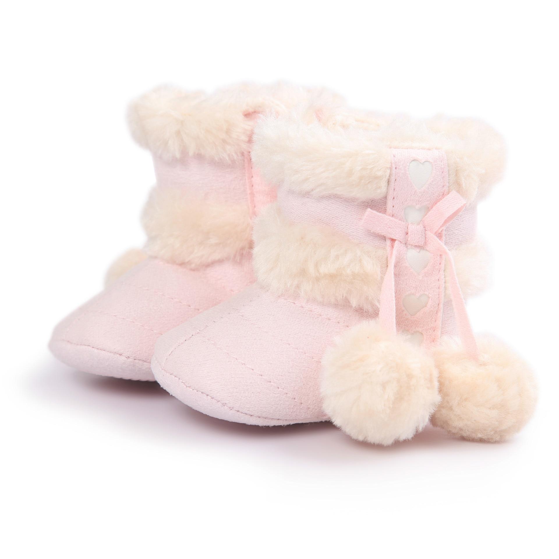 ROMIRUS 2018 Winter Light Pink Cute Plush Ball Decoration Baby Girl