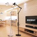 Fashion led eye light fishing lamp beauty remote control dimming vertical floor lamp