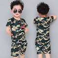 New arrival boys camouflage top + shorts sets children short sleeve baby summer T-shirts kids boys outfits