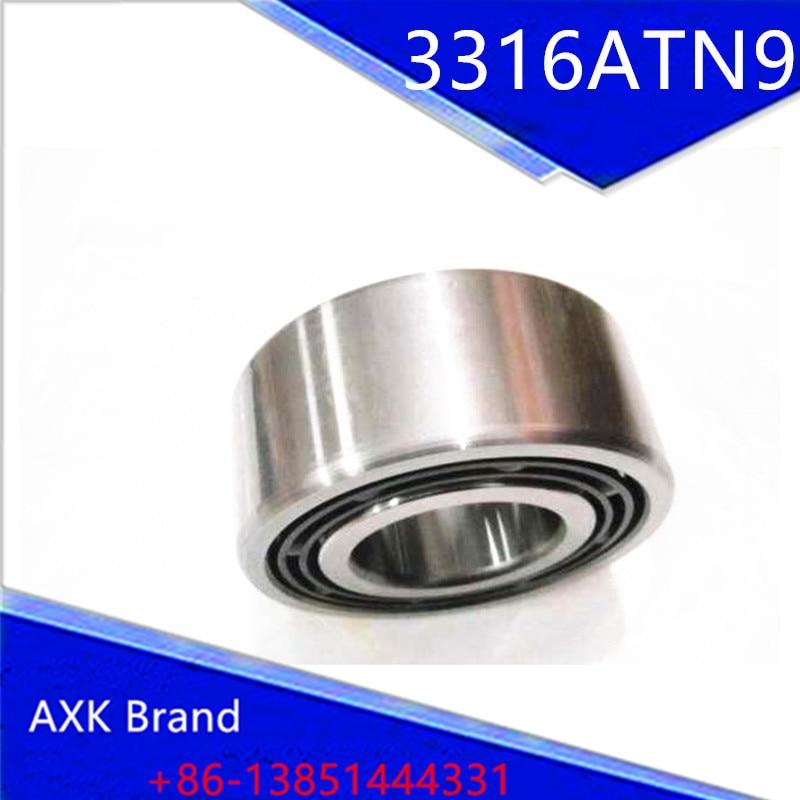 1PCS 3316ATN9 3316 3316A 5316 80x170x68.3 3316-B-TVH 3056316 3316B Double Row Angular Contact Ball Bearings  AXK Bearing