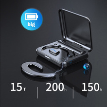 Auricular Bluetooth inalámbrico Bluetooth 4,1 auriculares TWS indoloro inalámbrico mini ultra pequeños auriculares colgantes oreja deportes llamada