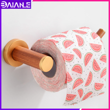 Toilet Paper Holder Wood Aluminum Creative Roll Paper Holder Rack Wall Mounted Paper Towel Holder WC Bathroom Tissue Roll Hanger creative wall mounted bathroom roll paper towel racks home wall decoration solid wood paper towel racks bathroom accessories