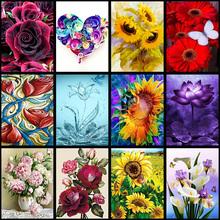 Flower arranging 5D DIY full diamond Painting flowers Cross Stitch diamond embroidery mosaic diamonds wall stickers home decor