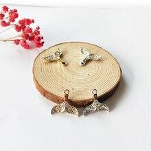 10pcs 19*20mm AB Rhinestone Alloy Mermaid Tail Charms Accessory Shining Fishtail Pendant Jewelry Earring DIY Making Charms YZ029 fishtail design bag accessory