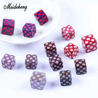 Acrylic Square Polka Dot beads for Jewelry Making Rubber lacquer Surface Bracelet Necklace Hair Ornament Gift Accessory