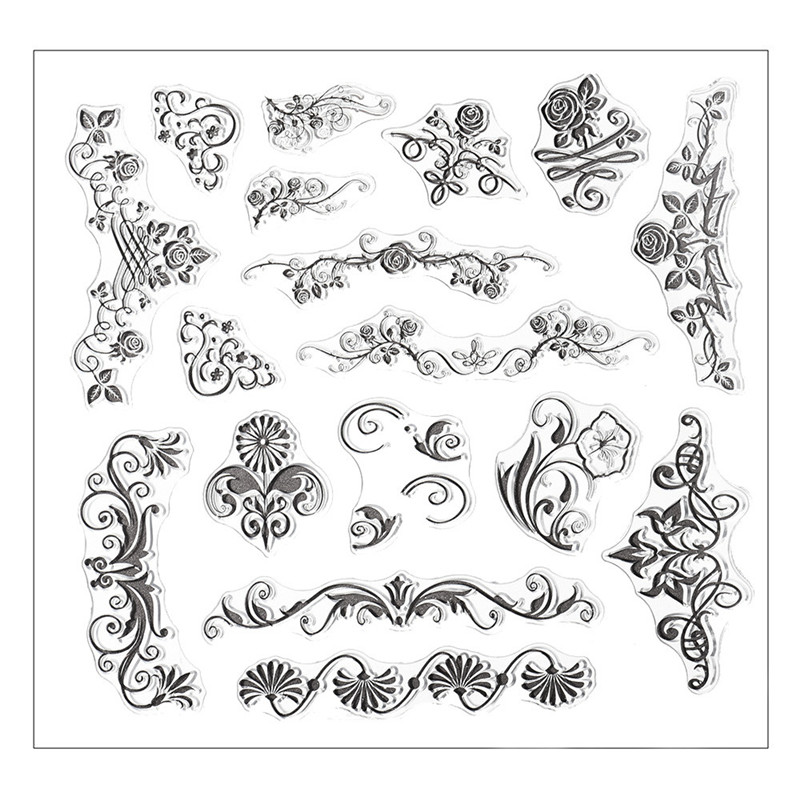 Silicone butterfly flower embossing folder template card for Decor 6 template
