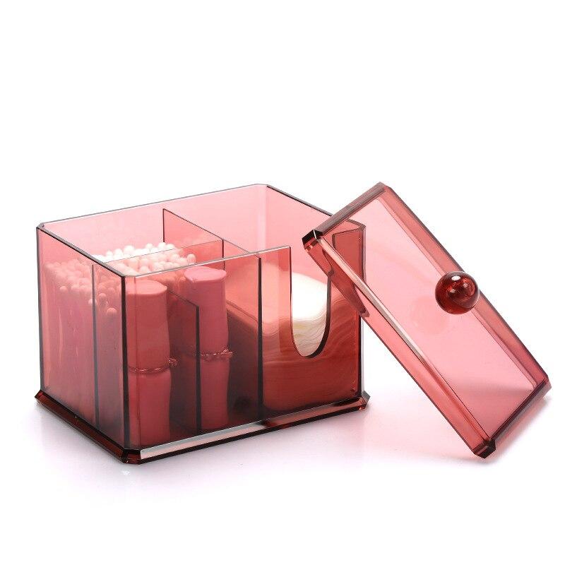 XZJJA Acrylic Makeup Organizers Cotton Pad Q Tip Storage Box Multifunction  Bathroom Desktop Make Up Organizer Cotton Swabs Box In Makeup Organizers  From ...