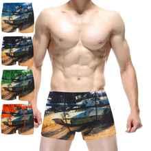 Army Tank Bomber USA Male Underwear Cueca Masculina Brand Boxer Shorts Man male underwear Men's boxers calvin