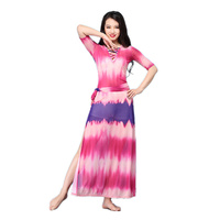 2018 New Dancewear Bellydance Clothes Elastic Outfit One piece Baladi Shaabi Dresses Women Costume Belly Dance Dress Stamp