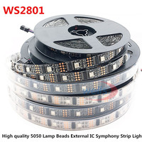 5M WS2801 32 lights 5050 chip external ic 5V LED Magic Marquee with single point single programmable IP65 IP68 Waterproof TV