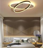 Led シーリングライト現代の 2 ヘッドラウンドアルミ天井照明ホーム備品鉄 Lamparas デ手帖鉄寝室照明器具