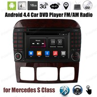 Android4.4 Car DVD CD player stereo radio Support DTV mirror link DVR DAB TPMS GPS BT 3G WiFi For Mercedes S Class