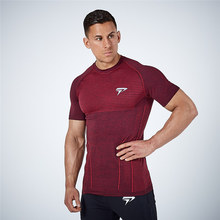 2019 Quick Dry Rashgard Gym T Shirt Sport Shirt Men Short Sleeve Running Shirts Compression Gym Fitness Bodybuilding Tops Tees new quick dry running shirt men bodybuilding sport t shirt long sleeve compression top gym t shirt men fitness tight rashgard