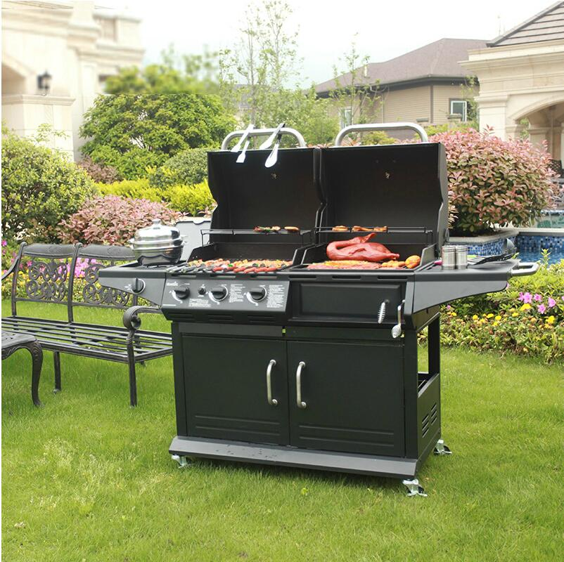 Dual Gas Charcoal Grill Rack Large Box Thickening Villa Commercial Outdoor 5 Or More People In Bbq Grills From Home Garden On Aliexpress Alibaba