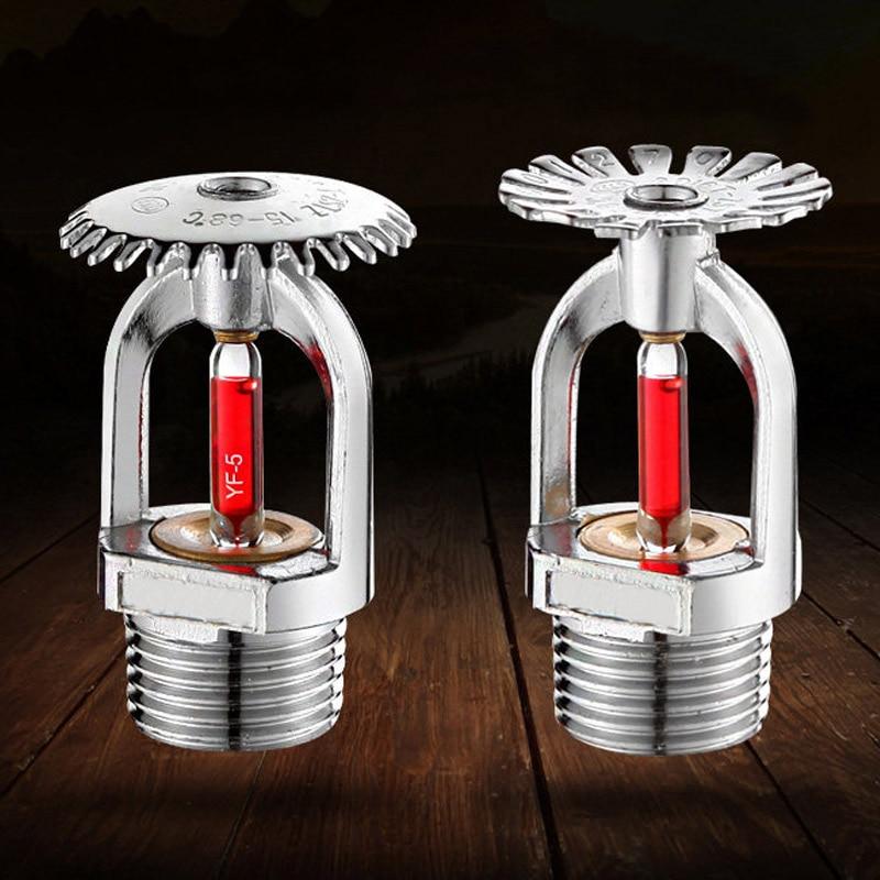 5Pcs Fire Sprinkler Head DN15/68 Degree Fire Extinguishing System Protection Equipment Spray Sprinkler