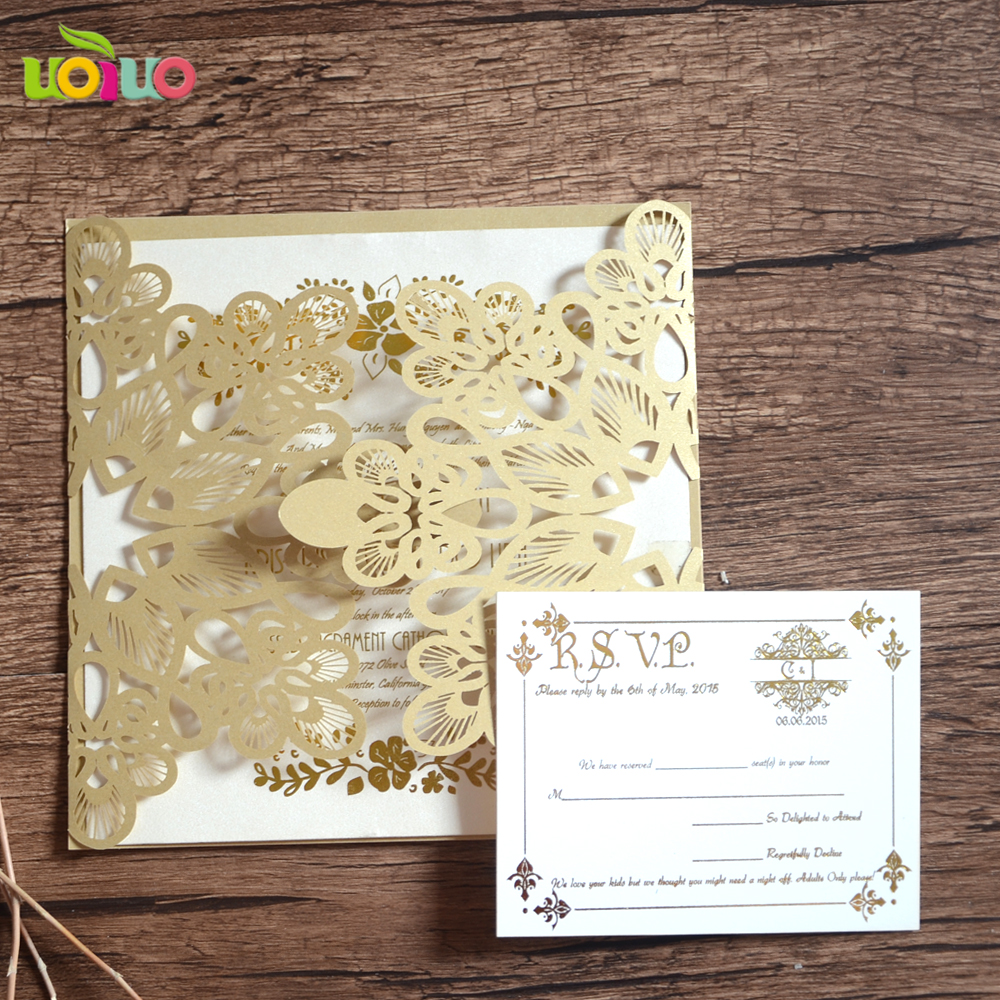 Invitation Card Freshers Party White Pearl Paper Laser Roll Wedding
