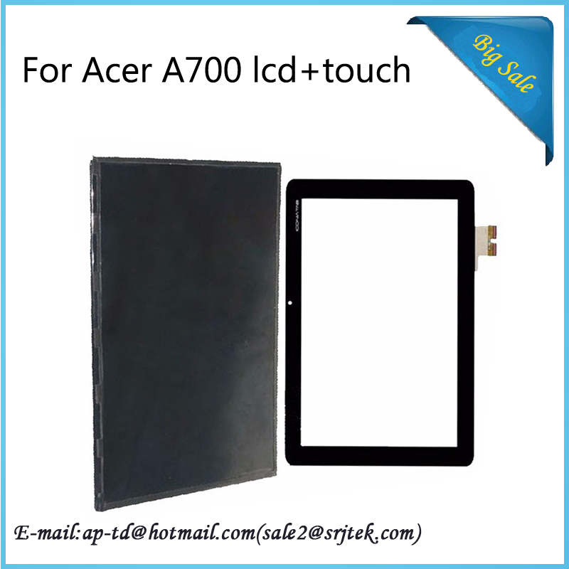 Original 10.1 For Acer Iconia Tab A700 A701 Touch Screen Glass Digitizer+LCD Screen Display Replacement Parts B101UAT02.1