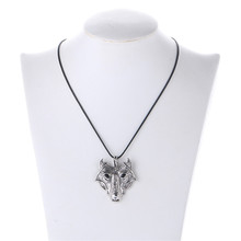 Vikings Pendant Necklace Norse Wolf Head