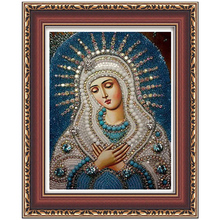 3d diy diamond painting cross stitch diamond embroidery Religious Lady and baby Jesus diamond mosaic pictures Rhinestones gift(China)